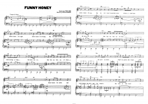 "Песня ""Funnny Honey"" из мюзикла ""Chicago"": ноты"