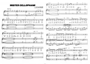 "Песня ""Mister Cellophane"" из мюзикла ""Chicago"": ноты"
