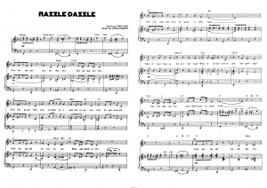 """Песня """"Razzle Dazzle"""" из мюзикла """"Chicago"""": ноты"""