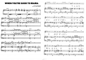 "Песня ""When you`re good to mama"" из мюзикла ""Chicago"": ноты"