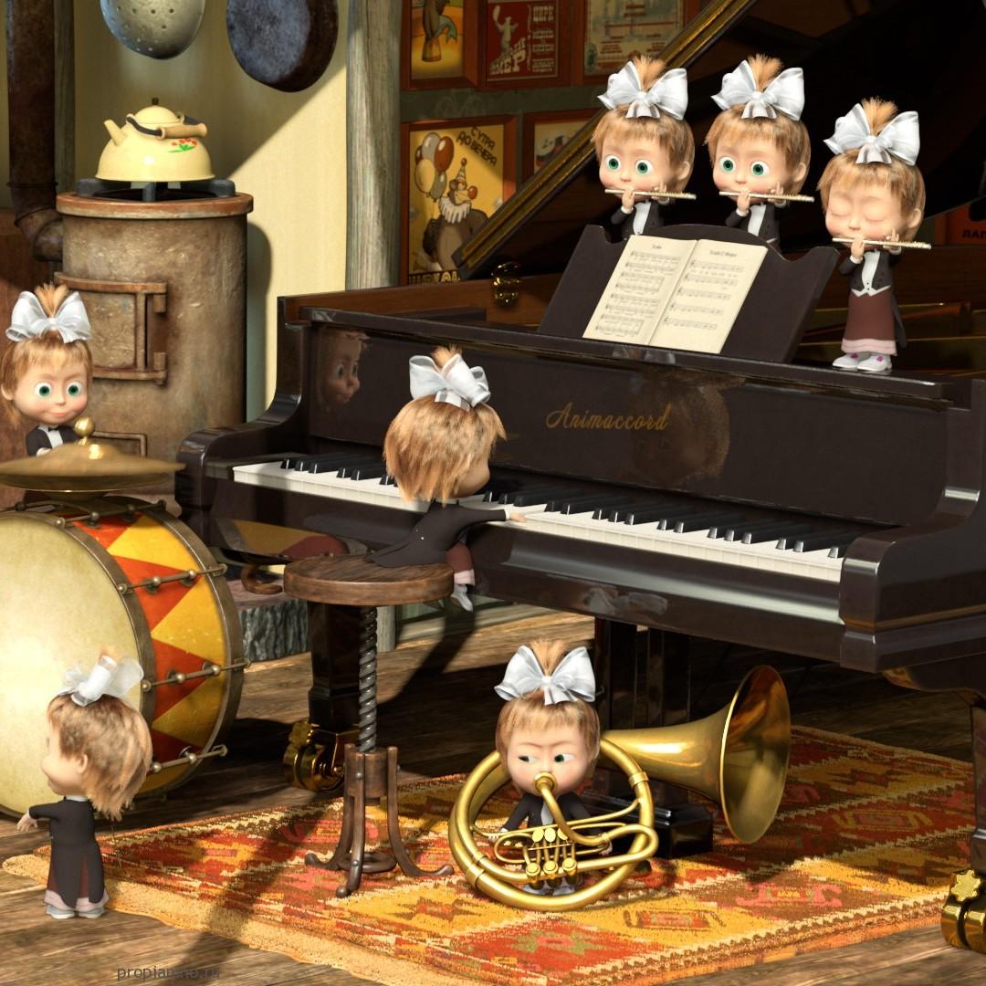 Если рояль старается