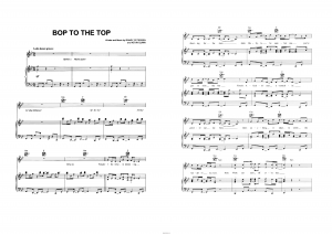 "Песня ""Bop to the top"" из фильма ""High School Musical"": ноты"