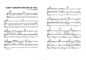 "Песня ""I can`t take my eyes off of you"" из фильма ""High school"": ноты"
