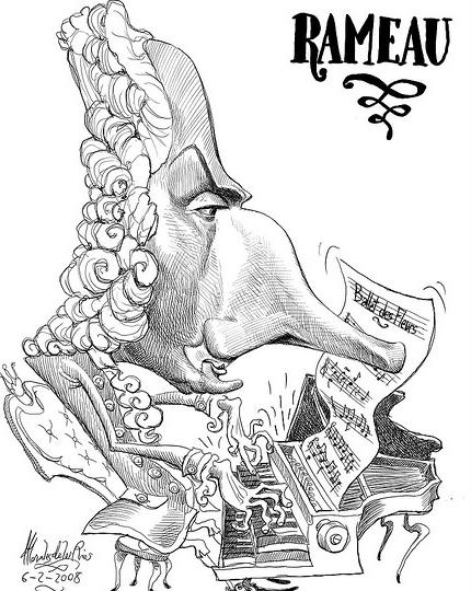 Карикатура на Жан-Филиппа Рамо