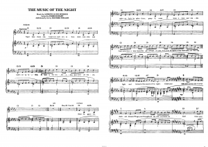 "Песня ""Music of the night"" из мюзикла ""The Phantom of the Opera"": ноты"