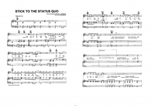 "Песня ""Stick to the status quo"" из фильма ""High school musical"": ноты"