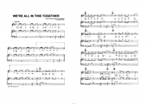 "Песня ""We`re all in this together"" из фильма ""High school musical"": ноты"
