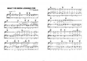 "Песня ""What I`ve been looking for"" из фильма ""High school musical"": ноты"
