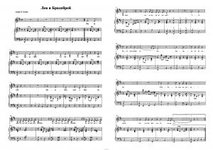 """Песня """"Лев и брадобрей"""" из кинофильма """"Мэри Поппинс, до свидания!"""": ноты"""