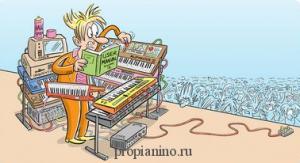 Синтезатор для начинающей группы