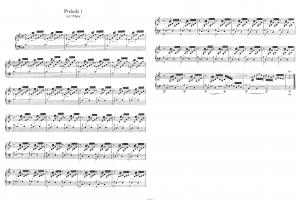 """Прелюдия до-мажор """"Аве Мария"""" из ХТК И.С.Баха (BWV 846): ноты"""