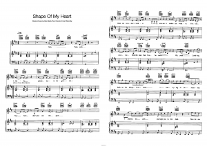 "Песня ""Shape of my heart"" группа ""Backstreet Boys"": ноты"
