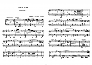 Похоронный марш (Funeral March) Л. ван Бетховен: ноты