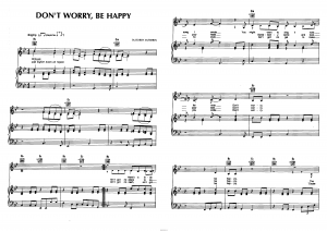 "Песня ""Don't Worry Be Happy"" Bobby McFerrin: ноты"