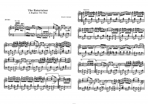 "Регтайм "" The Entertainer "" Скотта Джоплина: ноты"