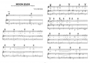 "Песня ""Moon River"" из фильма ""Breakfast at Tiffany`s"": ноты"