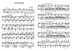 "Лакримоза К626 из ""Реквиема"" В.А.Моцарт: ноты"