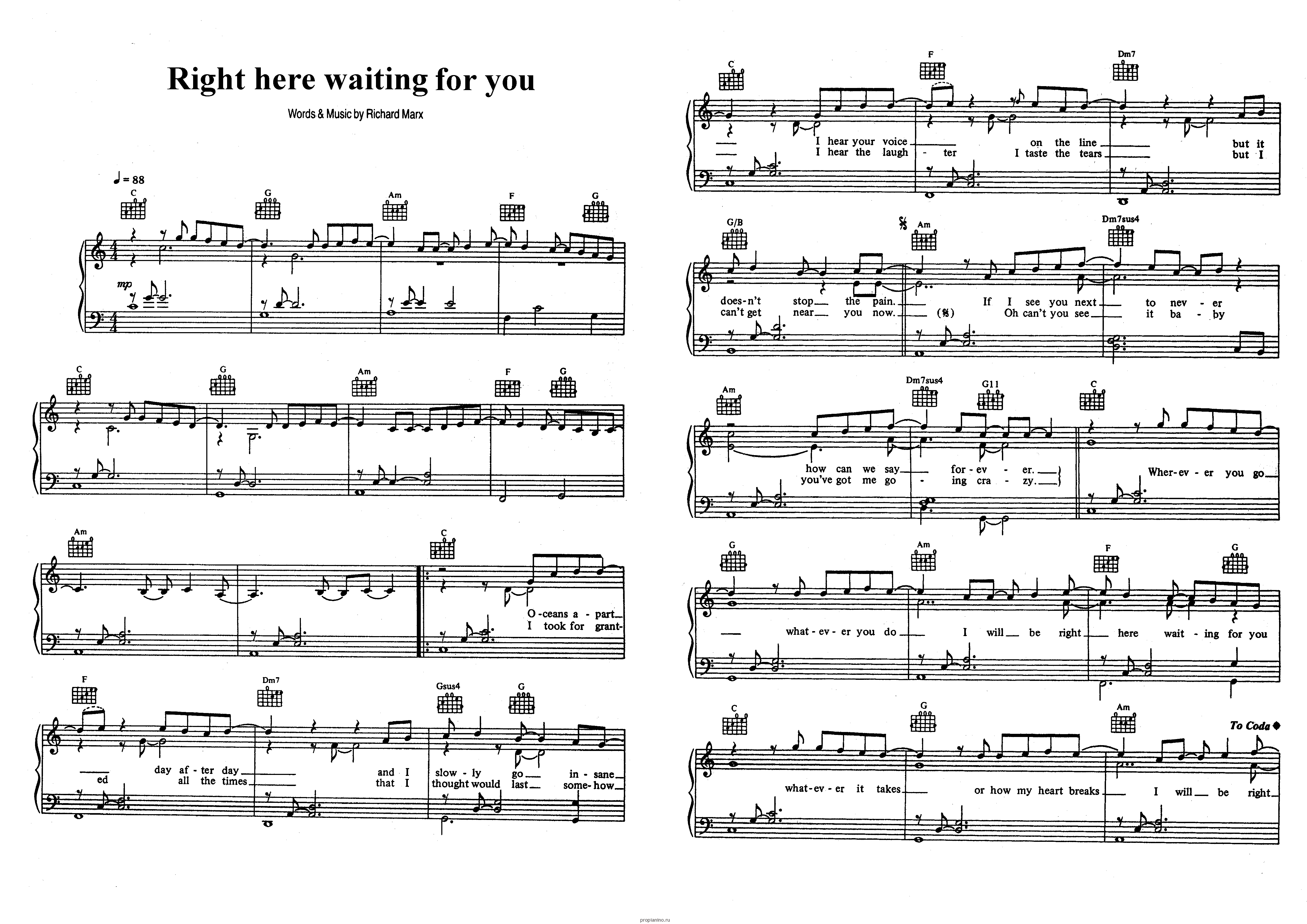 Guitar tabs of right here waiting