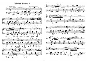 Ноктюрн op.9 №2 Ф. Шопен: ноты