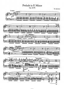 Прелюдия op. 28 №4 (ми минор) Ф. Шопен: ноты