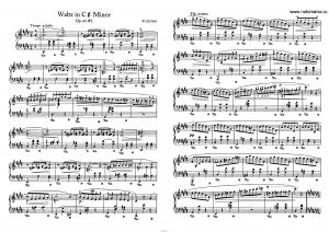 Вальс op. 64 №2 (до-диез минор) Ф. Шопен: ноты