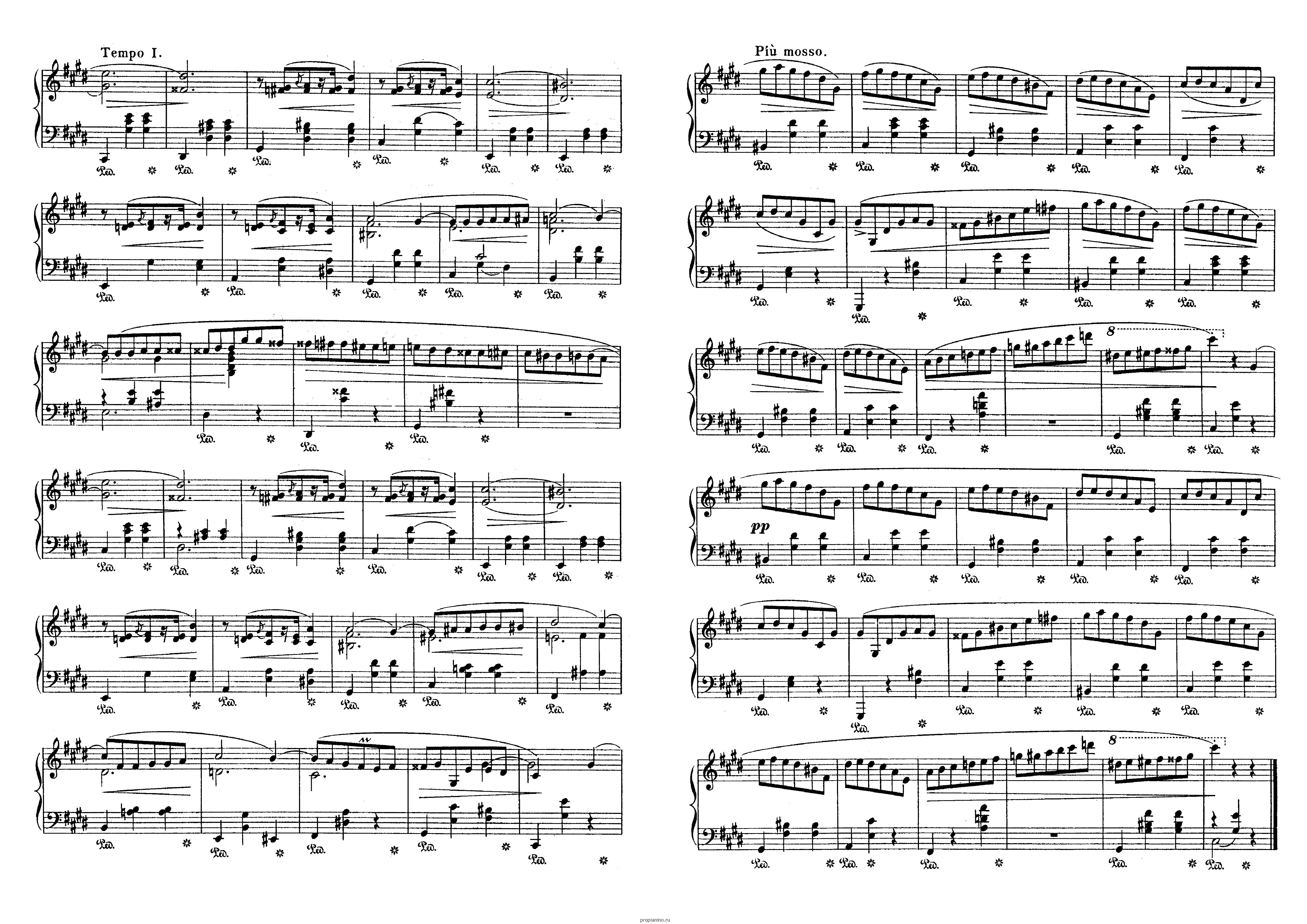 Фредерик шопен поль де сенневиль ноты.