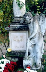 Памятник на могиле Моцарта