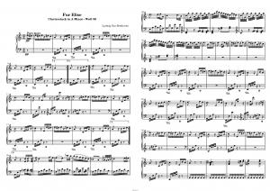 """К Элизе"" Л. Бетховена: ноты"