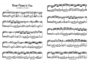 "River flows in you из кинофильма ""Сумерки"": ноты"