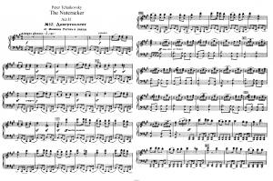 """Балет """"Щелкунчик"""" П.И. Чайковского акт 2 № 12 Дивертисмент (Мамаша Гигонь и паяцы): ноты"""