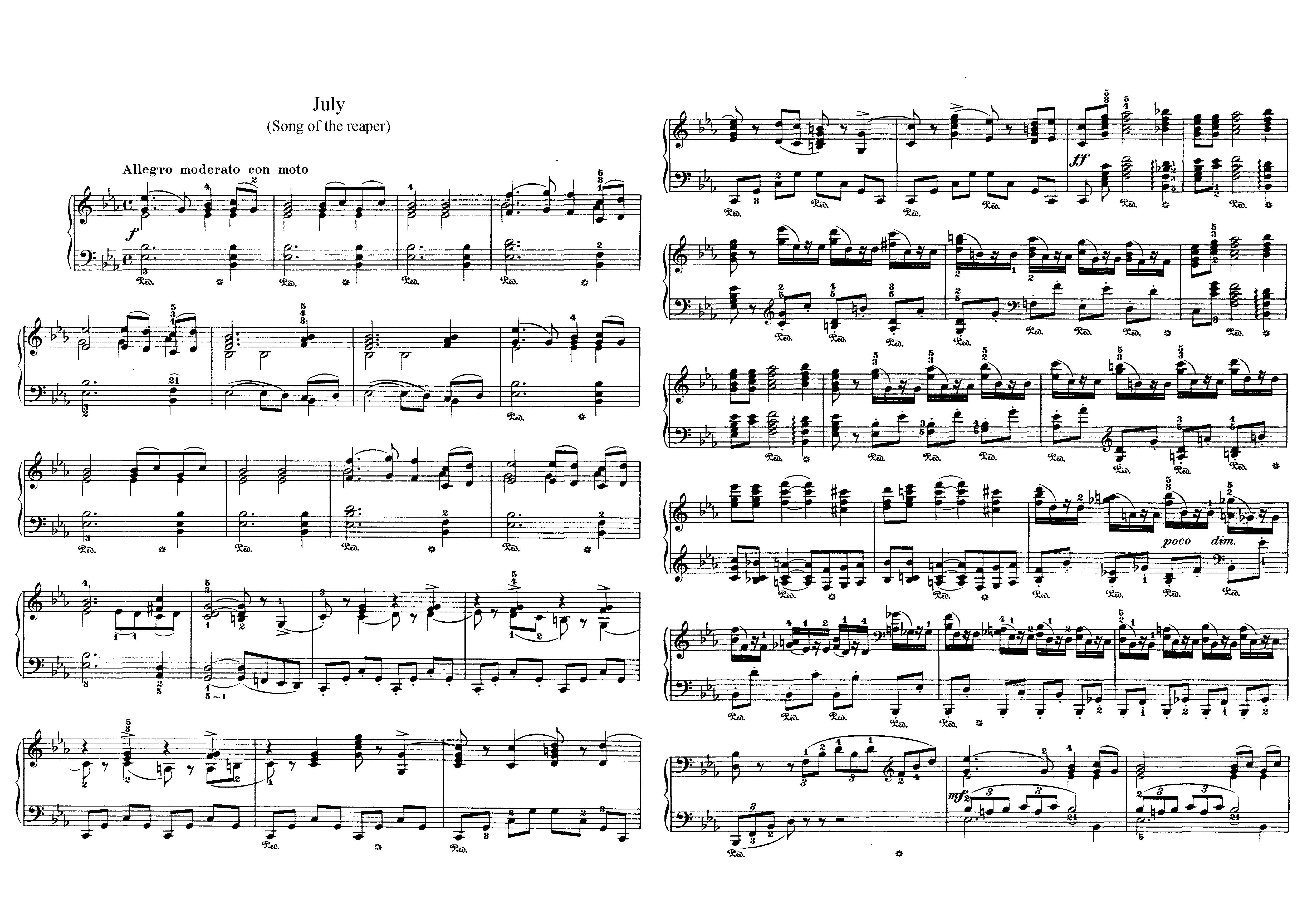 """Июль """"Времена года"""" П.И. Чайковский: ноты"""