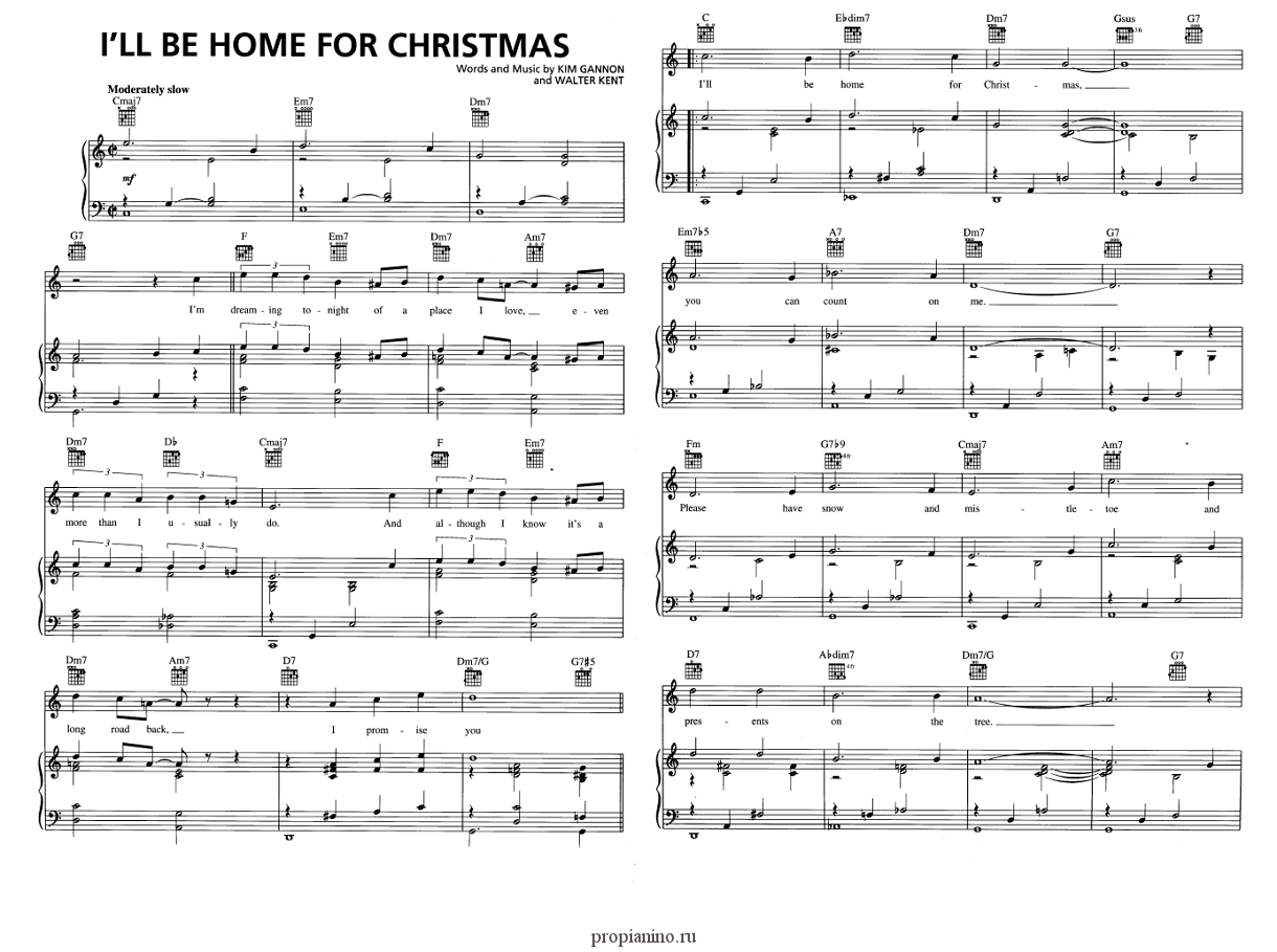 I\'ll Be Home For Christmas - ноты
