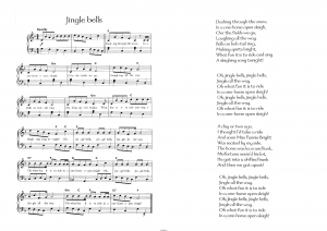 Jingle bells: ноты