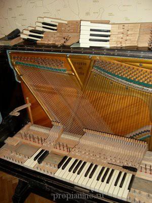 Как разобрать пианино - снять клавиши
