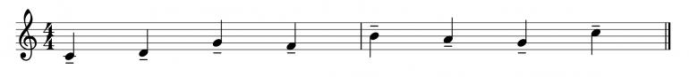 Штрих портаменто в нотах