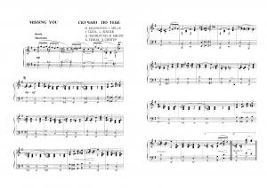 """""""Missing you"""" (Скучаю по тебе) Duke Ellington, Irving Mills, J. Tozol, L. Singer: ноты"""