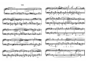 """Прелюдия №8 из цикла """"24 прелюдии"""" Д. Шостакович: ноты"""