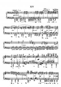 """Прелюдия №14 из цикла """"24 прелюдии"""" Д. Шостакович: ноты"""