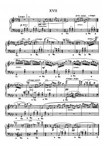"""Прелюдия №17 из цикла """"24 прелюдии"""" Д. Шостакович: ноты"""