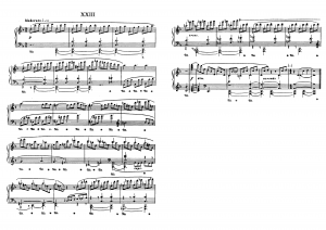 """Прелюдия №23 из цикла """"24 прелюдии"""" Д. Шостакович: ноты"""