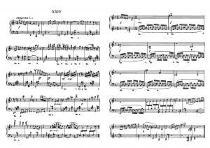"""Прелюдия №24 из цикла """"24 прелюдии"""" Д. Шостакович: ноты"""