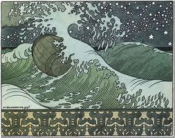 Бочка по морю плывет