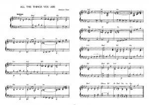 """All the things you are"" Джером Керн: ноты"