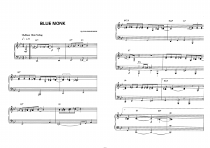 """Blue monk"" Thelonious Monk: ноты"