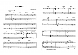 """Evidence"" Thelonious Monk: ноты"
