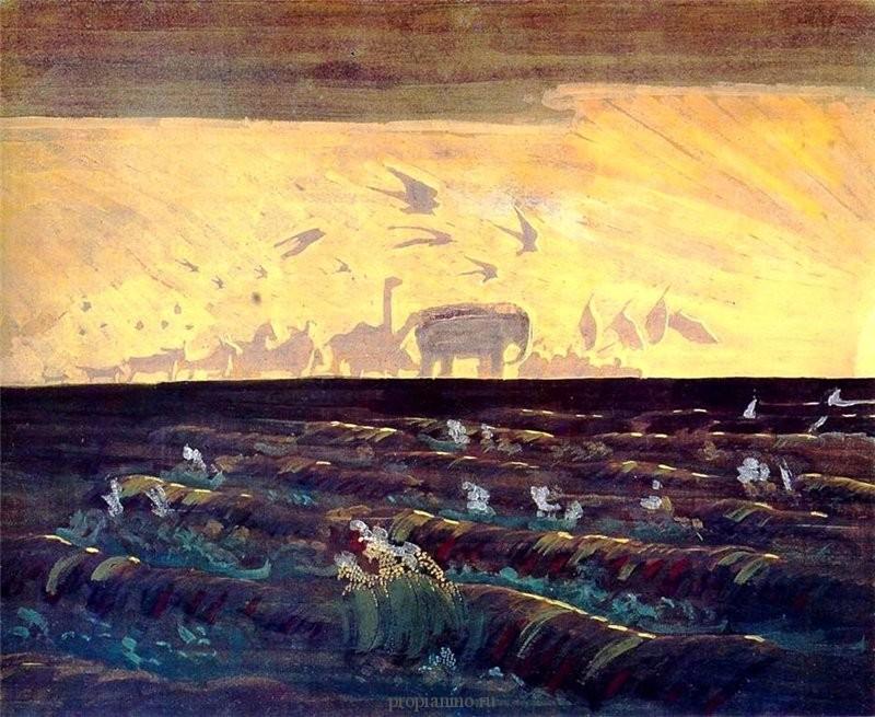 М.К. Чюрленис Приветствие солнцу