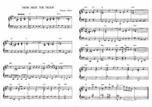 """How nigh the moon"" Морган Льюис (Morgan Lewis): ноты"