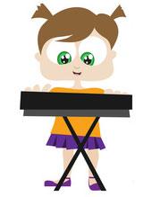 Построение трезвучий на пианино