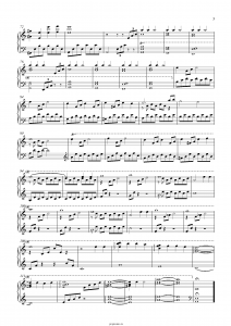 "Композиция ""The Meadow"" (Сумерки): ноты"