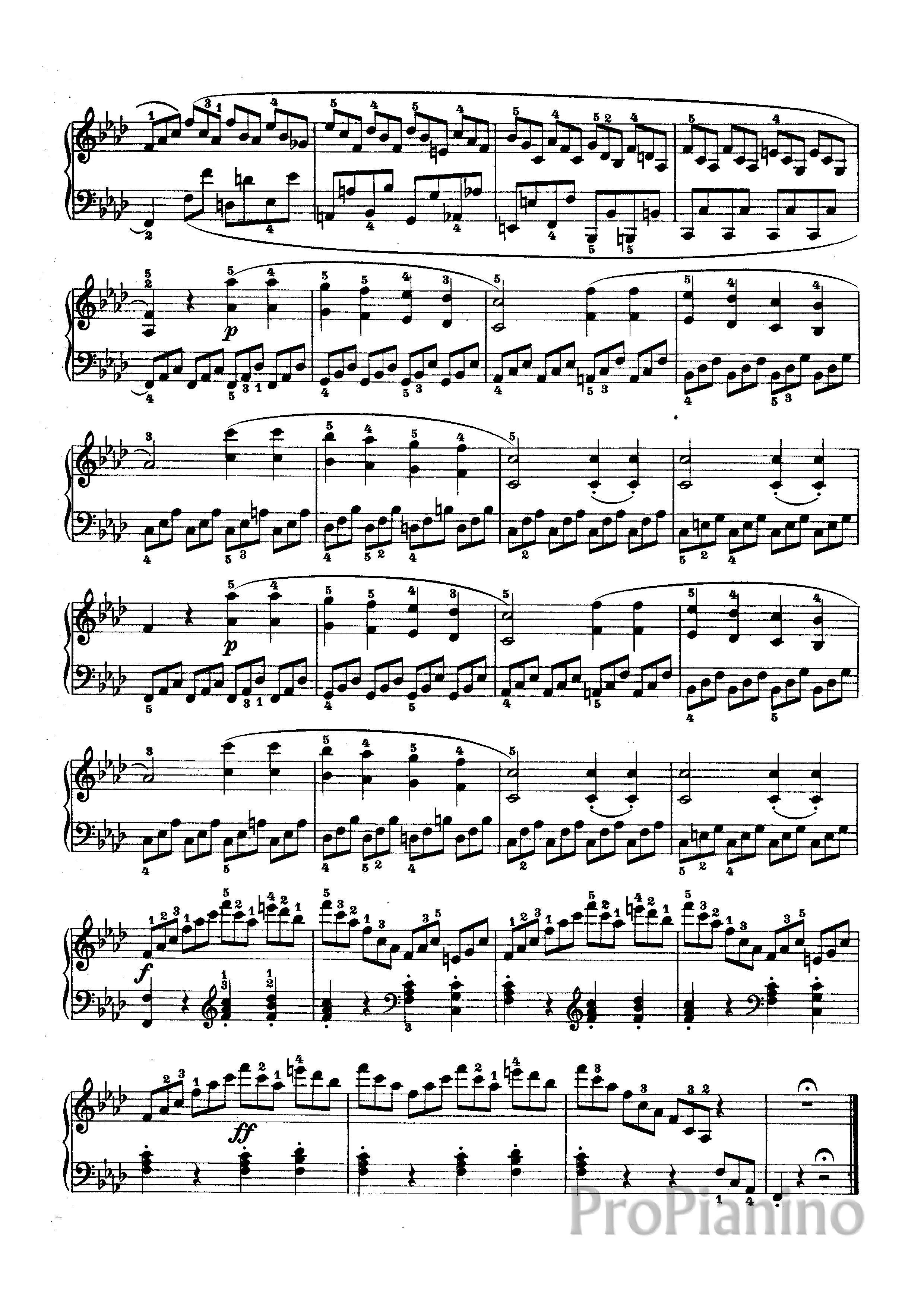 Бетховен Соната 2 Ноты